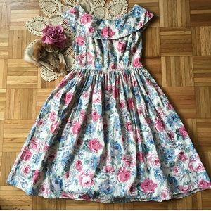 💕Vintage 50s Floral Dress💕